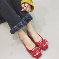 Crystella - 飾扣平跟鞋