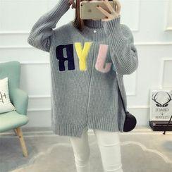 Dream Girl - Letter Asymmetric Knit Top