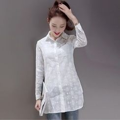 Romantica - Long-Sleeve Embroidered Shirt