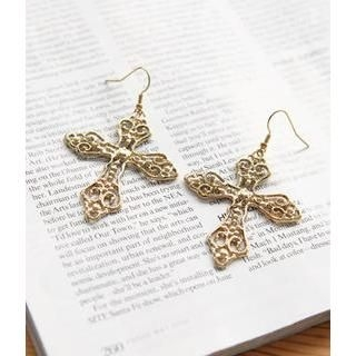 Petit et Belle - Large Cross Earrings