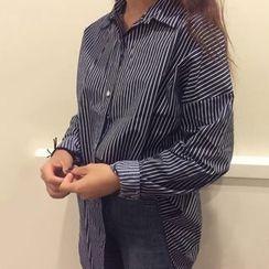 Dute - Stripe Long-Sleeve Blouse