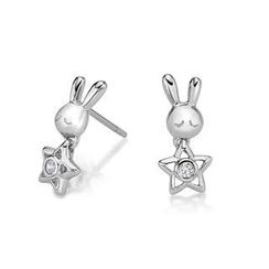 Kenny & co. - 925 Silver Rabbit C Hanging Star Earring