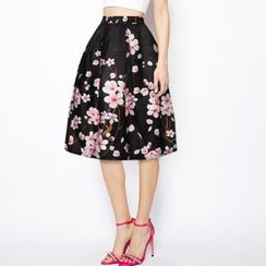 Omifa - Floral A-Line Skirt