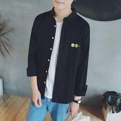 Soulcity - 笑臉刺繡長袖襯衫