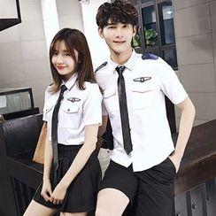 Sienne - Couple Matching Short-Sleeve Uniform Shirt
