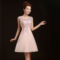 Gracia - Lace-Panel Bridesmaid Dress
