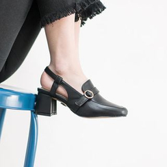 VIVIER - Belted-Detail Ankle-Strap Pumps