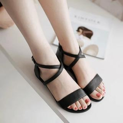 Pretty in Boots - Genuine Leather Sandals