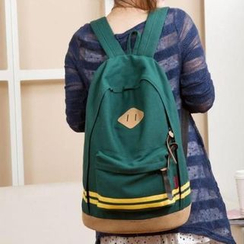 Golden Kelly - Stripe Canvas Backpack