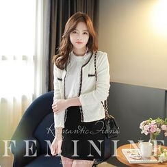 MyFiona - Contrast-Trim Tweed Jacket