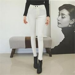 ode' - Brushed-Fleece Lined Skinny Pants