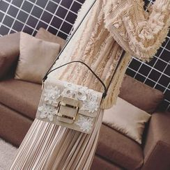 Pandabada - Applique Flower Flap Cross Bag