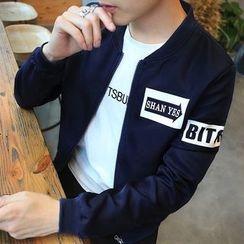Mitouomo - Printed Baseball Jacket