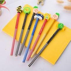 四季美 - 铅笔连卡通橡胶