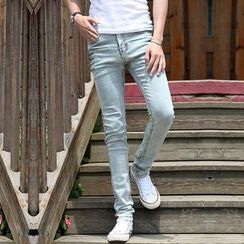 Breeson - Washed Slim-Fit Jeans