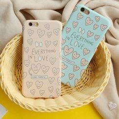 KANNITE - 心心印花手机套 - iPhone 6 / 6 Plus / 5