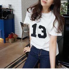 repley - Number Print T-Shirt