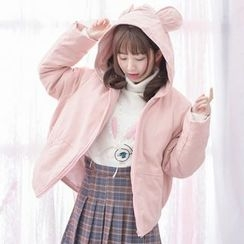 Moriville - Bear Ear Hooded Jacket