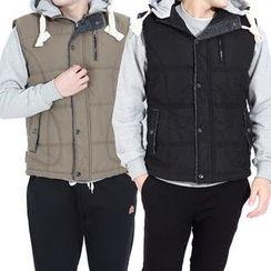 Seoul Homme - Padded Hoodie Vest