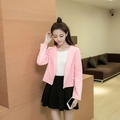 Honey Diary - Plain Cropped Jacket