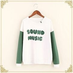 Fairyland - Lettering Two-Tone Long-Sleeve T-Shirt