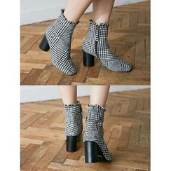 FROMBEGINNING - Check Ankle Boots
