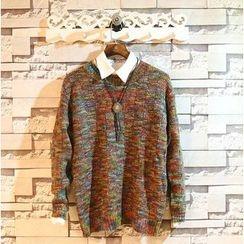 Sundipy - Melange Jacquard Sweater