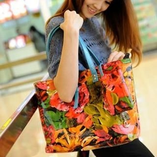 M.R. - Floral Belted Tote