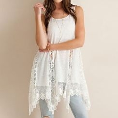Katie Bloom - Lace Panel Tank Dress