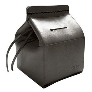 YOURS - Customizable Genuine Leather 'Milk Carton' Coin Bank
