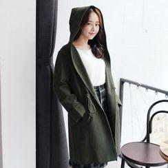 Tokyo Fashion - Hooded Drawstring-Waist Coat