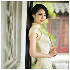 Janelle Qipao - Floral Print Short Cheongsam