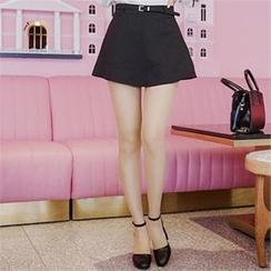 Babi n Pumkin - Inset Shorts Mini Skirt with Belt