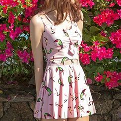 Sewwi - 大嘴鳥印花泳衣裙