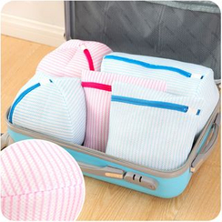 Desu - Striped Travel Organizer Pouch