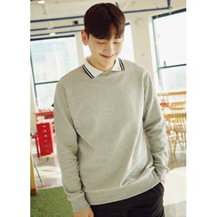 JOGUNSHOP - Layered-Collar Sweatshirt