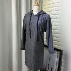 Bloombloom - Hooded Long-Sleeve Dress