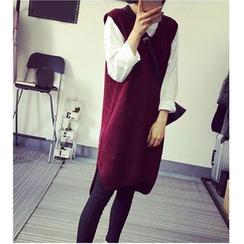 HazyDazy - 純色針織背心裙