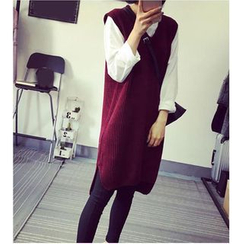 HazyDazy - Plain Knit Tank Dress