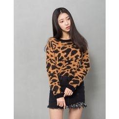 GUMZZI - Leopard Print Sweater