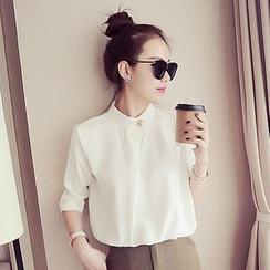 Shimi - 純色雪紡襯衫