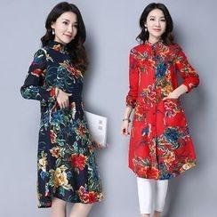 Yeeya - Floral Long Shirt