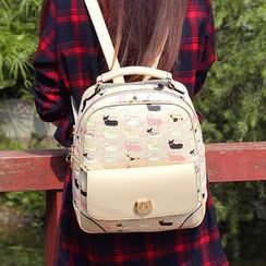 Princess Carousel - Faux Leather Print Backpack