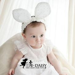 March Daisy - 純色大兔耳朵髮帶
