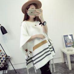 Dream Girl - Striped Knit Cape