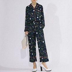 Heynew - Floral Print Pajama Set