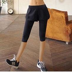 FAYE - 运动短裤假两件内搭裤