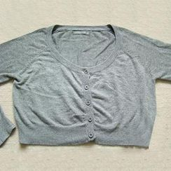 Yammi - Heart-Accent Cardigan