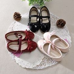 Showtime - 小童蝴蝶結漆皮平跟鞋