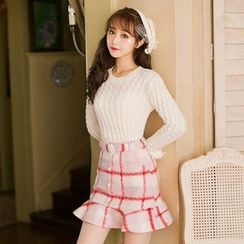 Candy Rain - Ruffle Trim Sweater